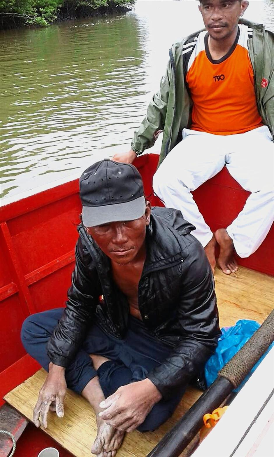 Mustapha Opong, who went missing in waters off Sabahs east coast Jambongan Island. was found safe after he was washed ashore to a village on Saturday morning,