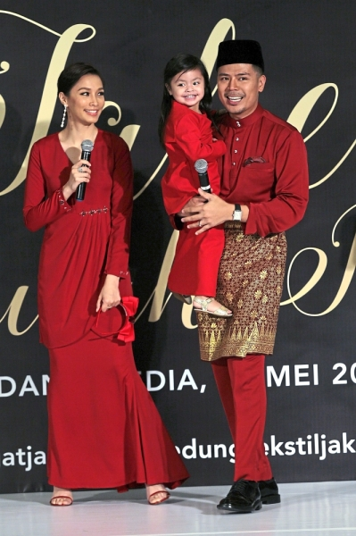 Talented family: Scha and Awal with their daughter Lara.