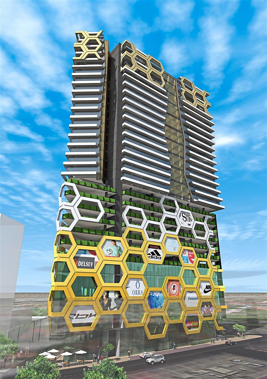 A rendering of M101 Holding's proposed project in Bukit Bintang, which is popular with tourists.