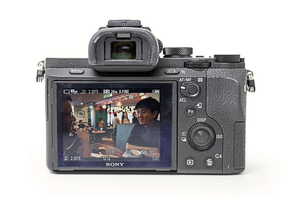 The very busy control scheme of the Sony A7 II.