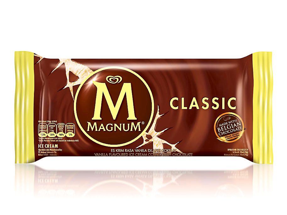 A treat inside: The new design of the Magnum Classic packaging.