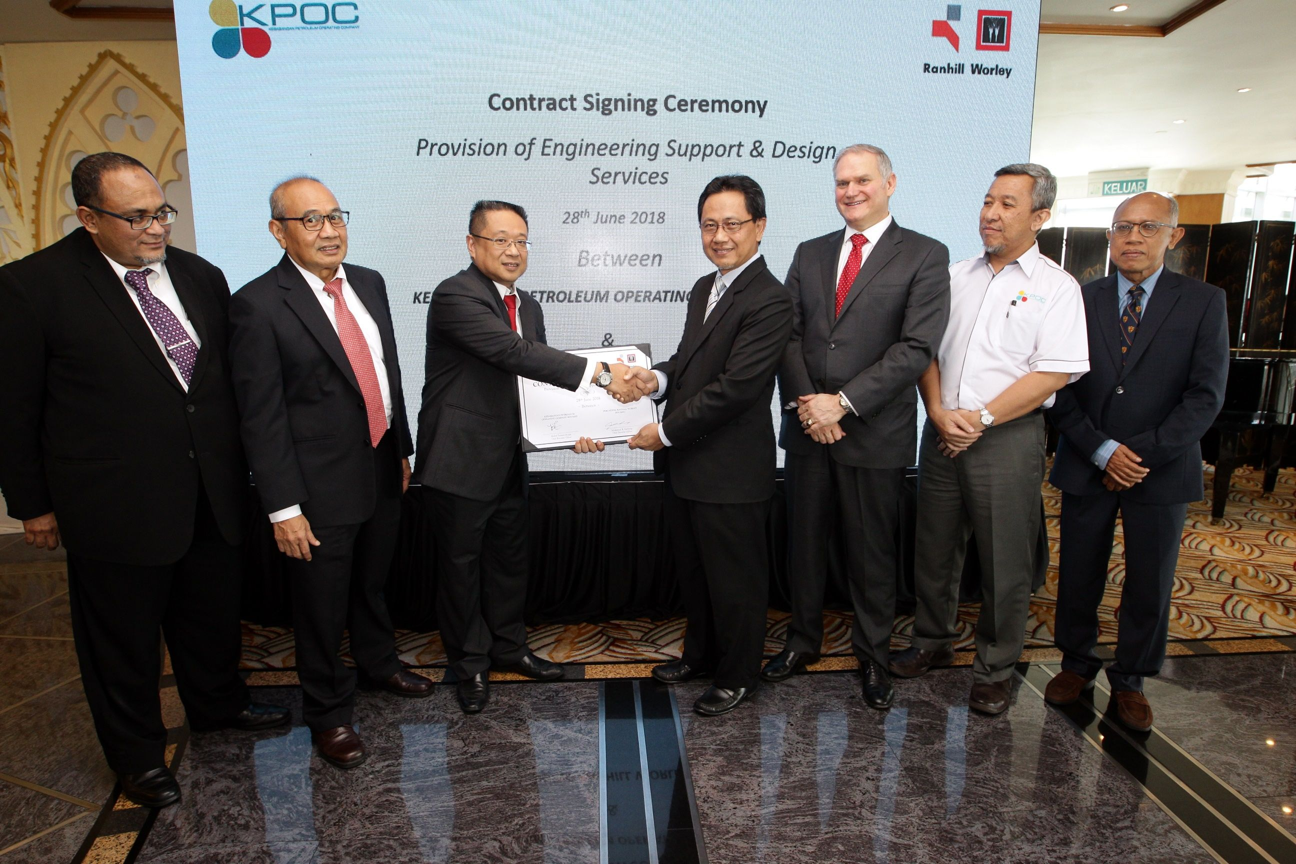 Perunding Ranhill Worley secures contract from Petronas JV