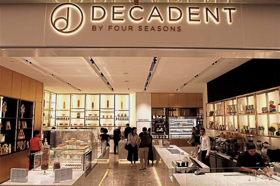 (Below right) Decadent offers handcrafted artisanal chocolates, luscious gelato and sherbet.