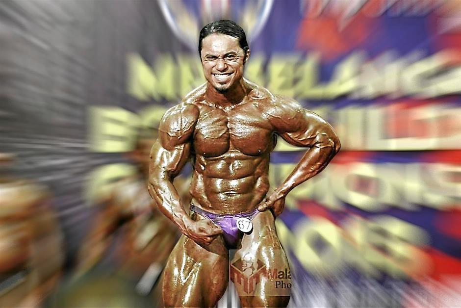 Badrul Shah Baharuddin emerged champion in the Mr Selangor light-middle weight category.
