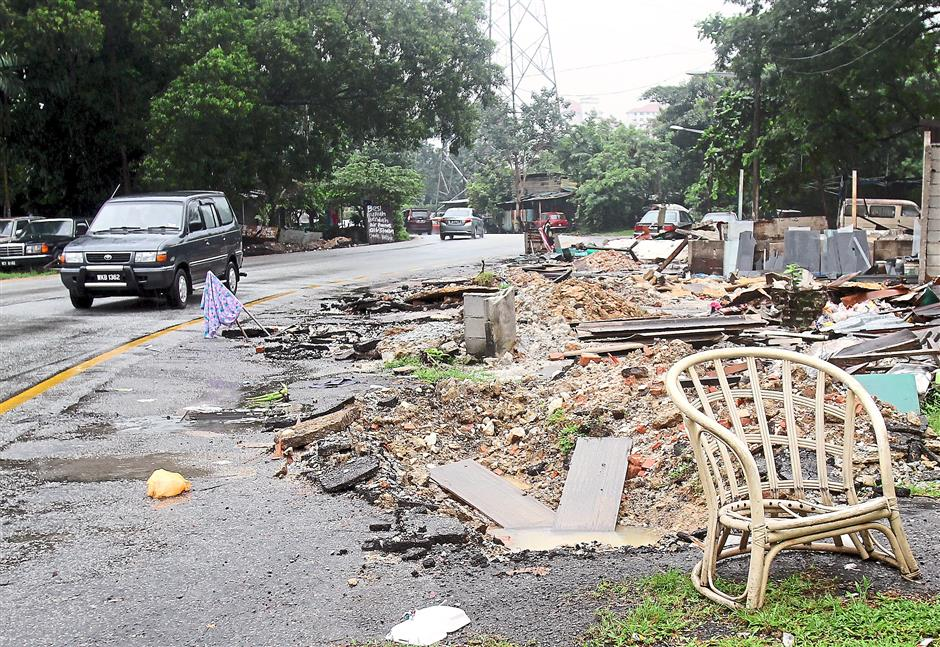 Remnants of several workshops at IKS Setapak in Taman Setapak Permai which were demolished to make way for development are an eyesore.