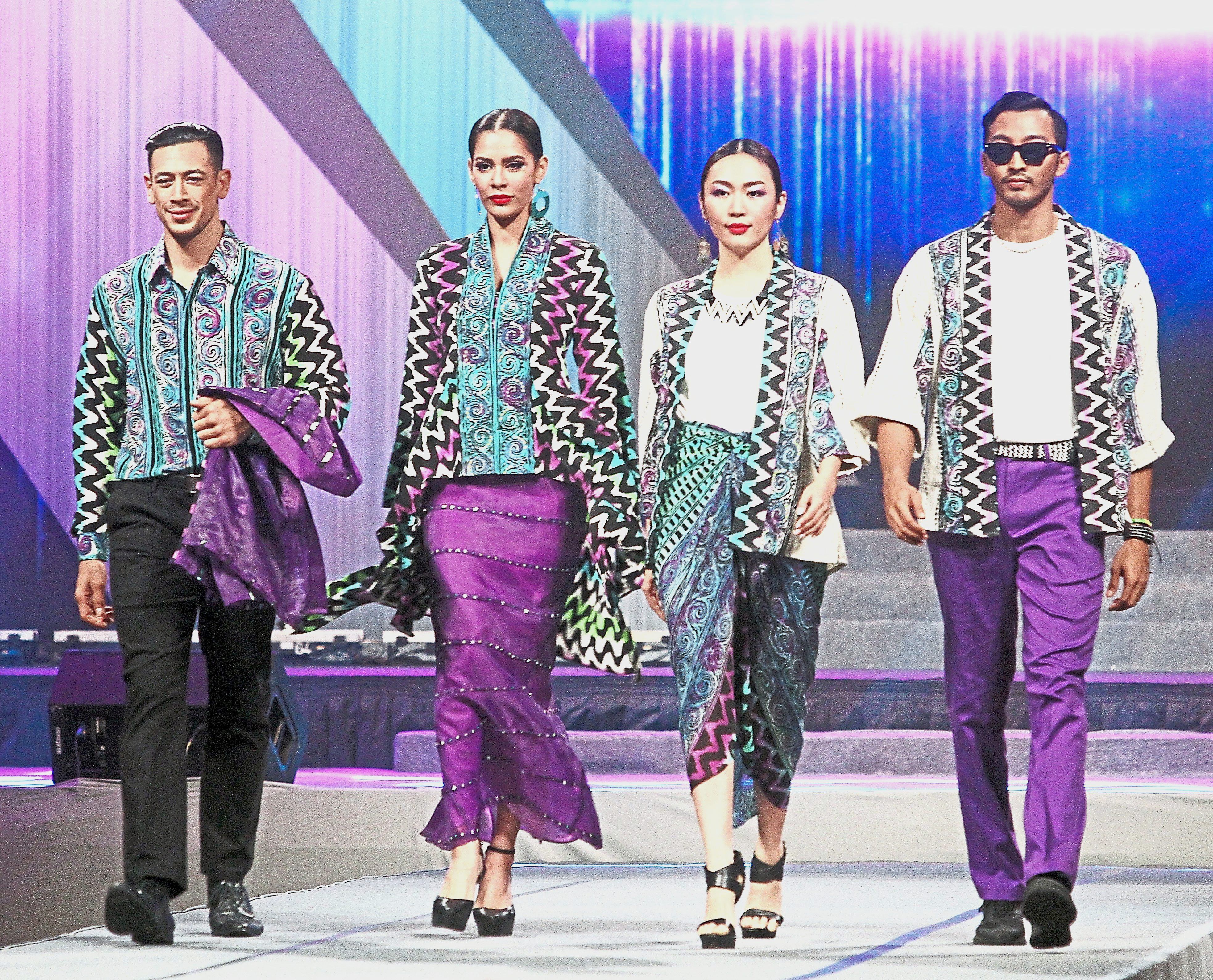 The designs of Ziyan Batik that won the first prize in the Fashion category at the design competition.