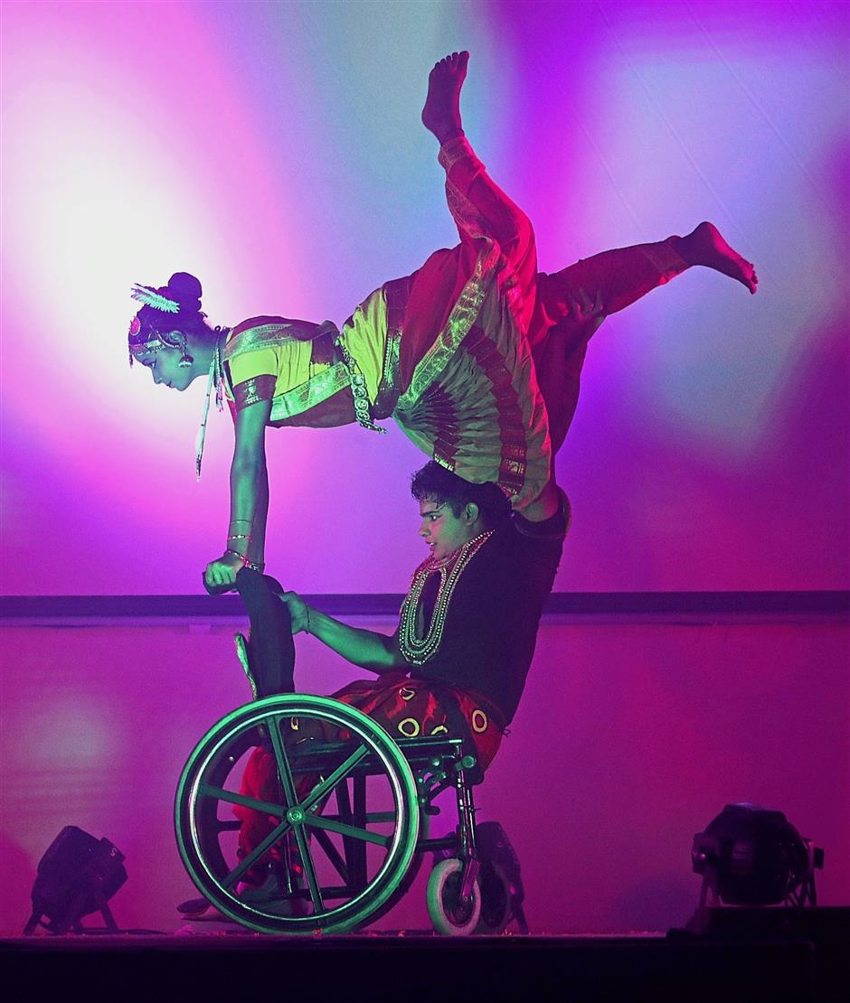 (BRIEF CAPTION) Miracle On Wheels first bharatanatyam dance show by differently abled dancers from India at Sri Mutiara hall in Politeknik Seberang Prai . Pic by: ZHAFARAN NASIB/The Star/ 19 August 2018