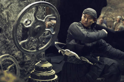 Making the right moves: Jayden Yuan Xiaochao in a scene from oriental steampunk Tai Chi Hero.