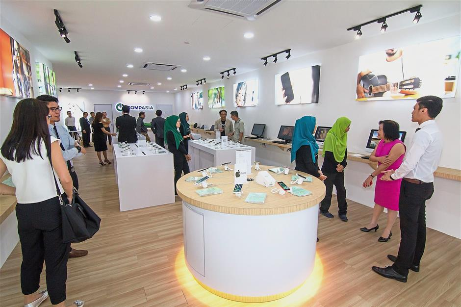 Physical presence: CompAsia is looking to expand its retail stores to sell refurbished smartphones.