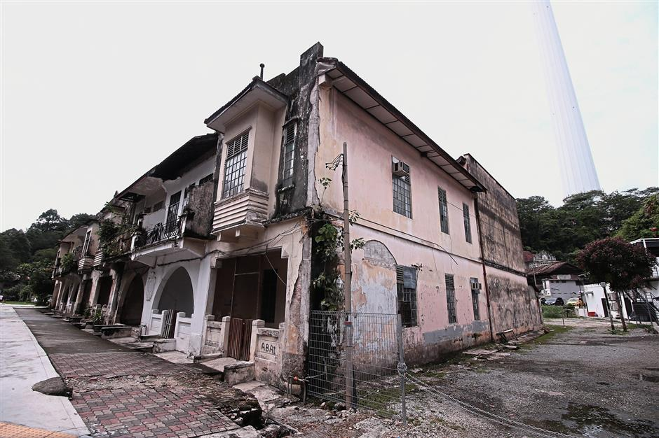 The Serani Row which was once the abode of the Eurasian community has been demolished to make way for a new development project. — filepic