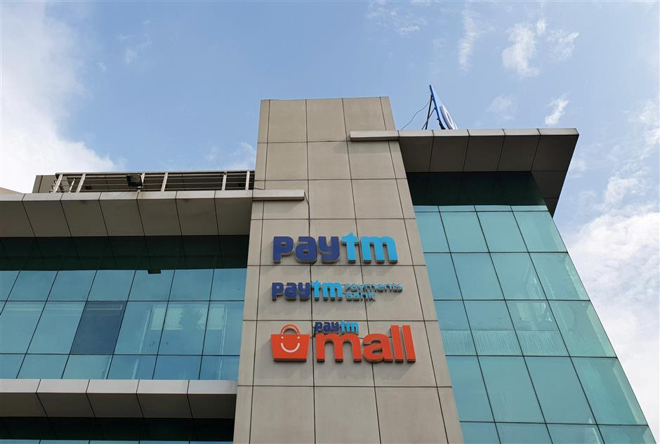 FILE PHOTO: The headquarters for Paytm, India's leading digital payments firm, is pictured in Noida, India, August 29, 2018. REUTERS/Sankalp Phartiyal/File Photo