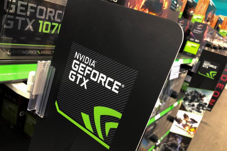 NVIDIA computer graphic cards are shown for sale at a retail store in San Marcos, California, U.S. August 14, 2018.        REUTERS/Mike Blake