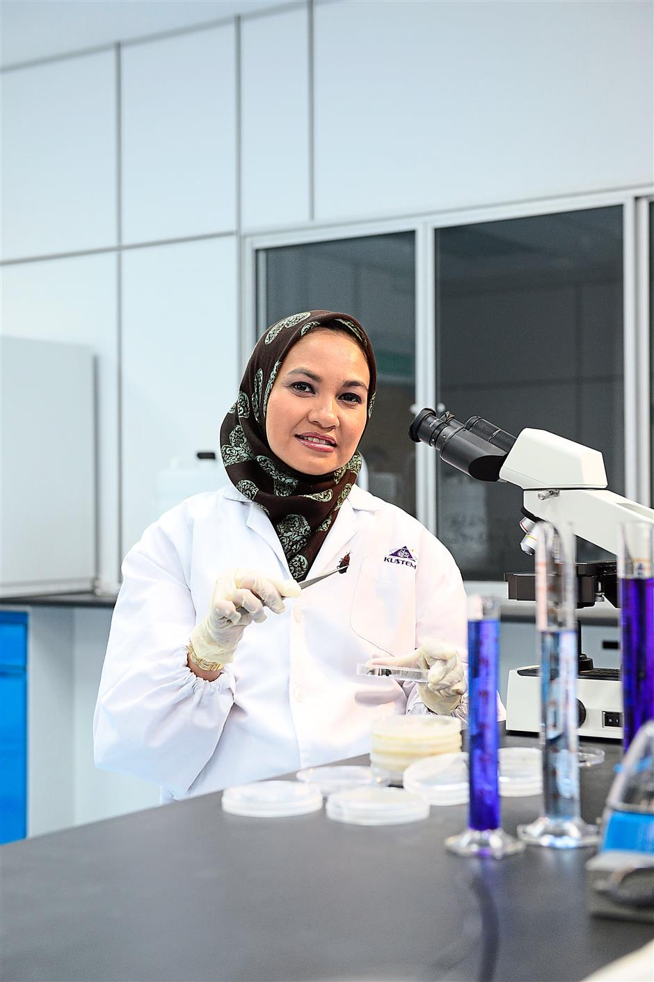 Search & destroy: Dr Wahizatul is determined to find a non-toxic method to overcome the problem of red palm weevils, which attacks oil palm trees.