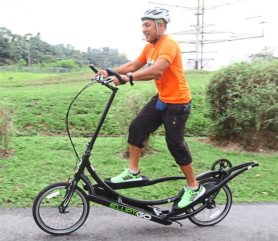 The minimum physical requirement for riding an ElliptiGO is that you must be able to ride a conventional bicycle.