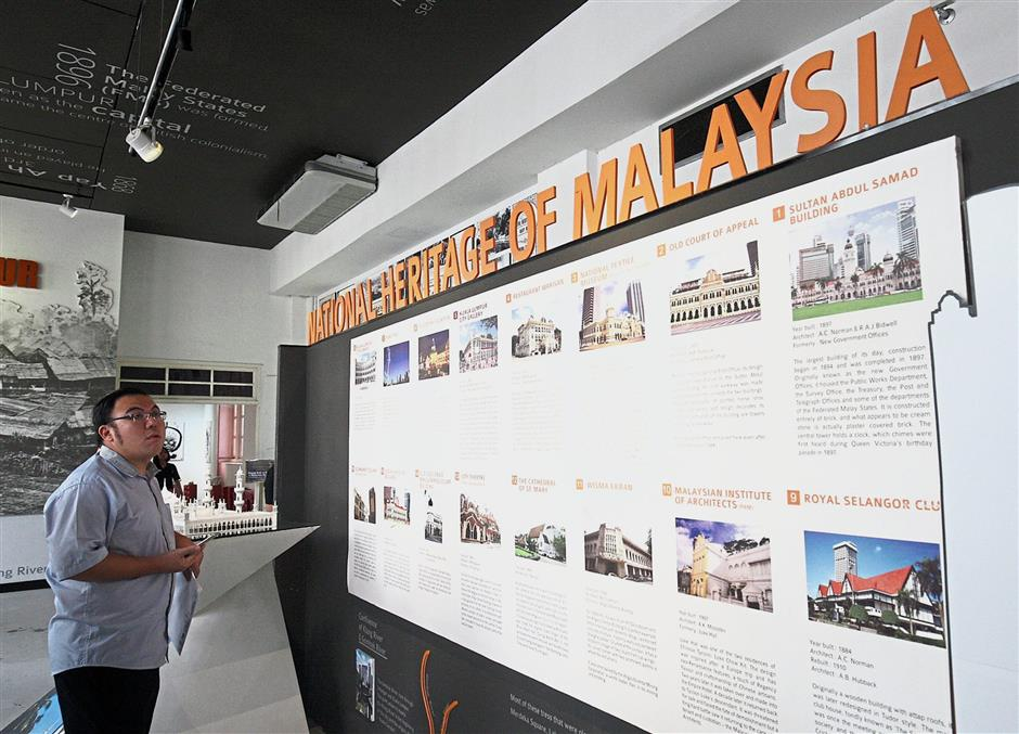 At Kuala Lumpur City Gallery visitors will be able to learn about national heritage buildings in Kuala Lumpur such as the Old Court of Appeal, Sultan Abdul Samad Building and the Royal Selangor Club.