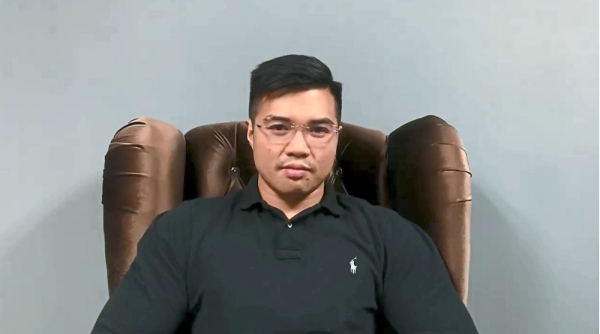 Amateur production: Netizens are mocking the poor script and production values of the sex tape, including the choice of getting Haziq to sit in a fancy wingtip armchair, like he is trying to wish the rakyat u2018Selamat Hari Rayau2019.