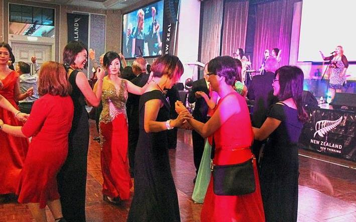 Guests hitting the dance floor during the celebration.
