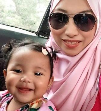 Smiles: Fawwaz says motherhood is the greatest and hardest thing in her life.