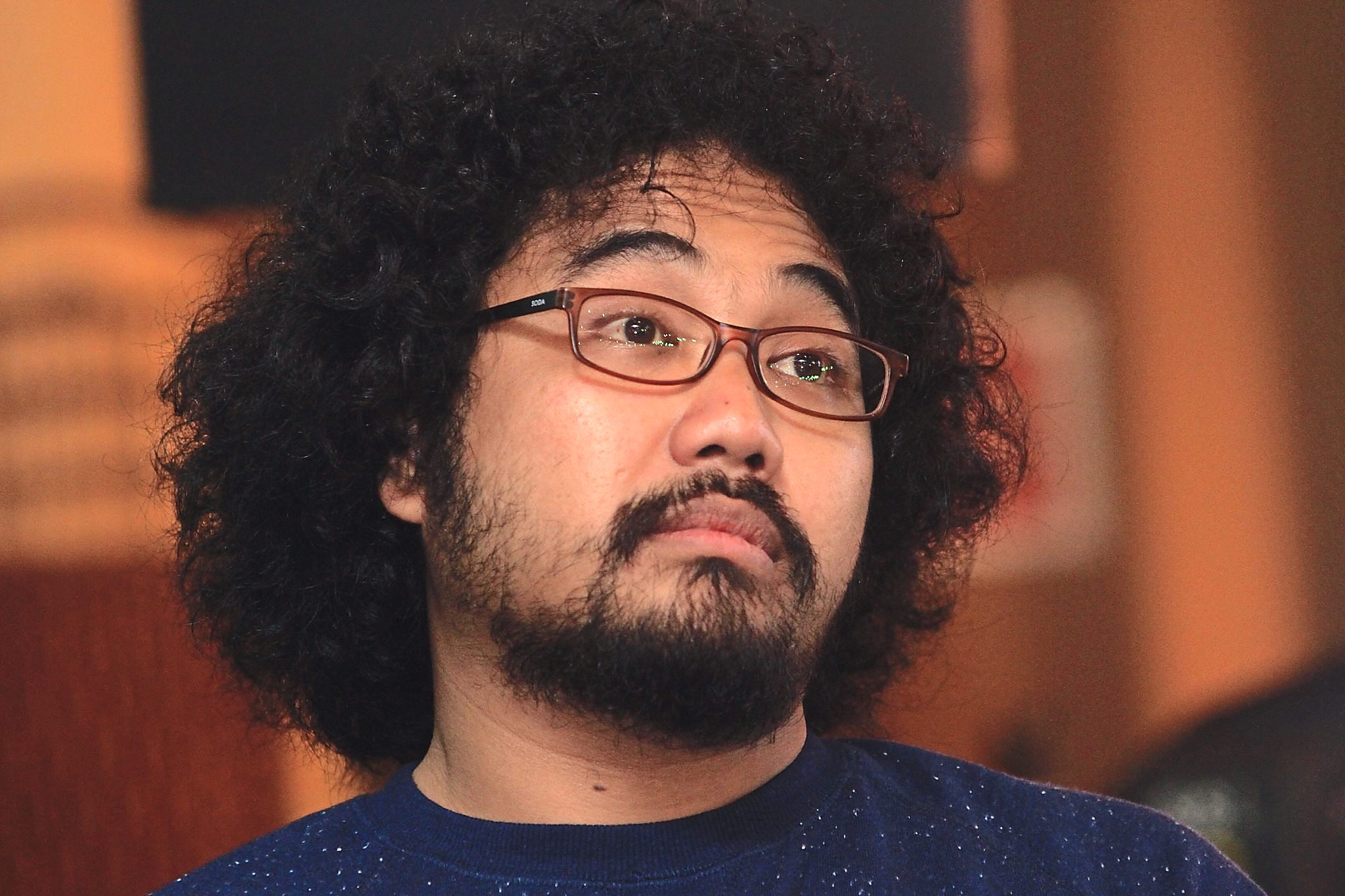 Comedian Johan Raja Lawak is not amused by Facebook...and neither are his kids.