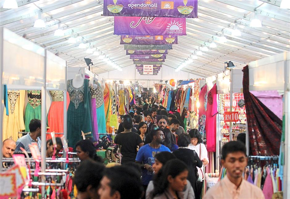Air-conditioned tents make shopping at the 14th Deepavali Carnival 2015 in Bukit Jalil a comfortable experience.