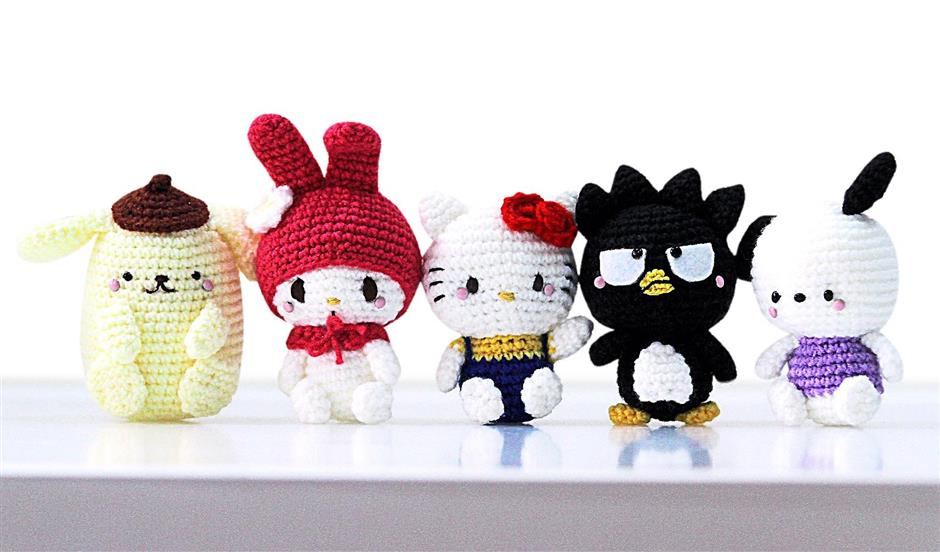 Hello kitty crochet pattern | Etsy | 552x940