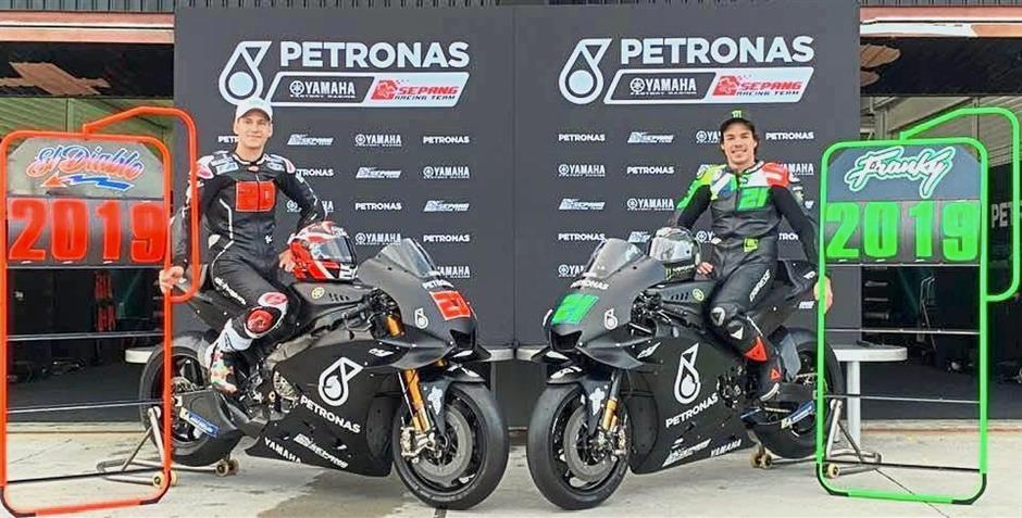 Stand tall: Petronas Yamaha Sepang Racing Team riders Fabio Quartararo (left) and Franco Morbidelli.