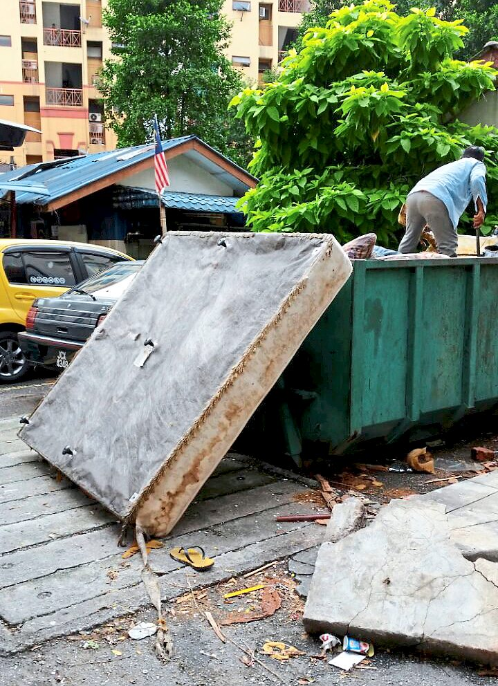 Communal bins placed in PJ South neighbourhoods encourages people to dump rubbish in one area.