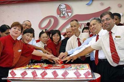 KFC Malaysia now has more than 480 outlets in four countries