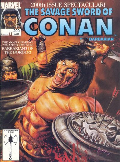 While Conanu2019s popularity and longevity can be attributed to a continuous comic book run dating back to the 70s and three silver screen appearances, it is sad that his creator, Robert E. Howard (1906-1936), never got to enjoy the success of his greatest creation. At least, not until the release of this milestone anniversary issue that unites both creator and creation in an offbeat adventure.