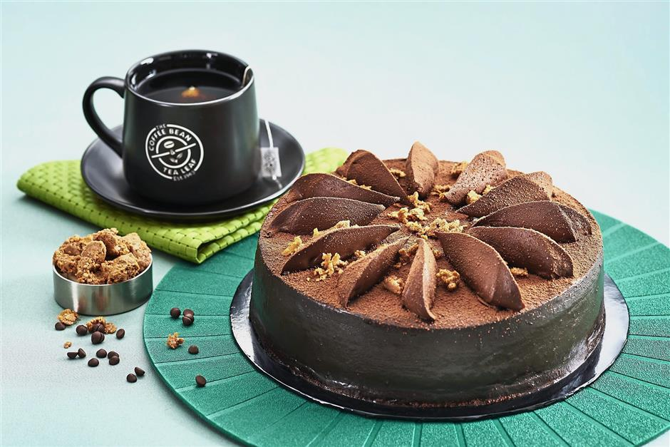 The new Chocolate Harmony Cake from the Coffee Bean & Tea Leaf offers decadent layers of chocolate goodness.