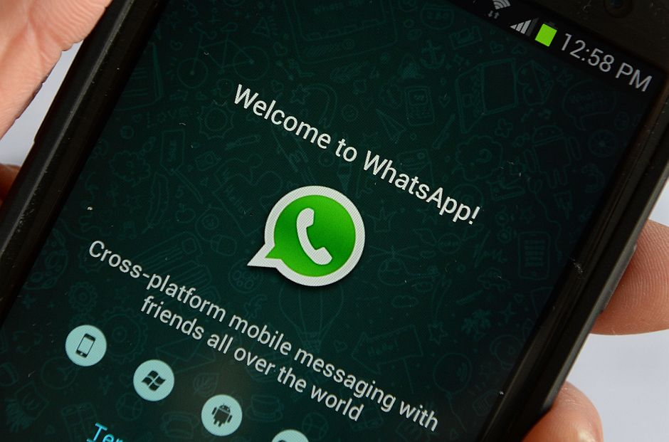 Logo of WhatsApp, the popular messaging service seen here on a smartphone. - AFP