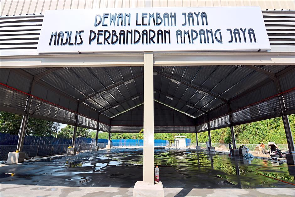 Meeting point: The Lembah Jaya Multipurpose Hall in Jalan Bukit Belacan, Taman Desa, Lembah Permai, Ampang is under construction and will be completed this year.