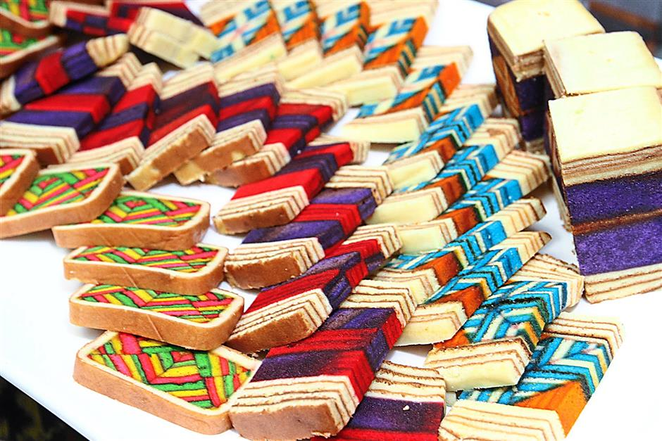 Kek lapis Sarawak that will be served during the Sarawak Food and Cultural Fest 2014.