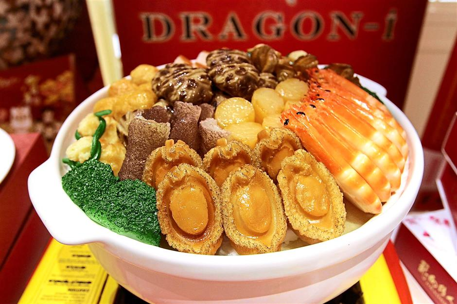Appetising: Treasure pots are traditionally eaten to celebrate the Lunar New Year.