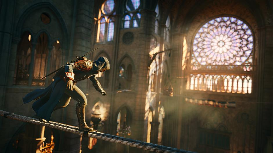 This photo provided by Ubisoft shows a scene from the video game, 'Assassin's Creed: Unity.' (AP Photo/Ubisoft)