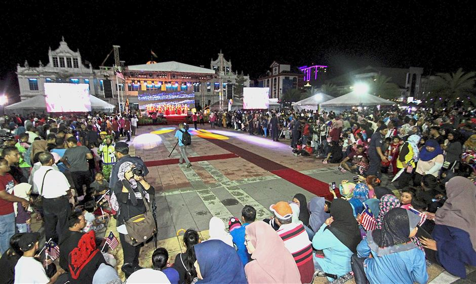 The crowd gathering as close to the stage as possible to enjoy the show performances lined-up for the night.
