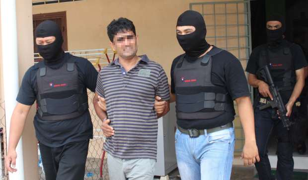 Rounded up: Another LTTE suspect being arrested.