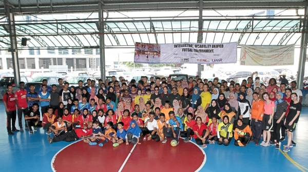 The inaugural Intellectual Disability Unified Futsal Tournament saw around 170 participants at Forum 19 in Petaling Jaya. u2014 Photos: YAP CHEE HONG/The Star