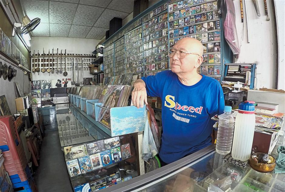 Cheng Ah Lek has been selling vinyl records and cassettes for nearly 50 years now.