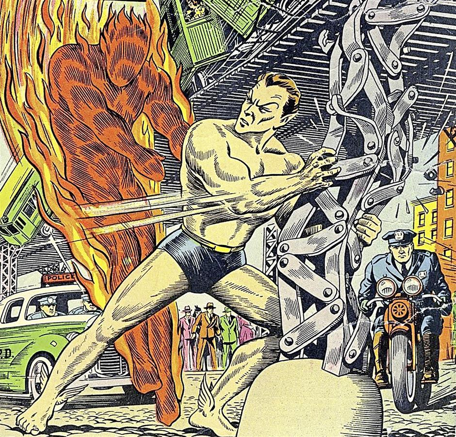 Namor was involved in the first ever fight between superheroes in any medium, taking on the Human Torch in June 1940¿'s Marvel Mystery Comics #8.