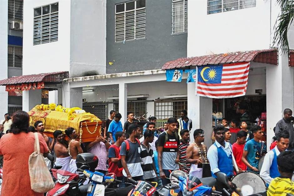 Final journey: The funeral of Sathiswaran whose body was laid to rest at MBPJ Damansara Hindu Cemetery?.
