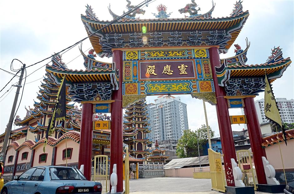 The Nine Emperors , or to give its full name, Leng Eng Tian Khiew Ong Tai Tay Temple, now fully built and painted in all its splendour along Jalan SS9A/2, where its temple ceremonies especially the Nine Emperors Festival, attracts adherents from all over the Klang Valley each year.