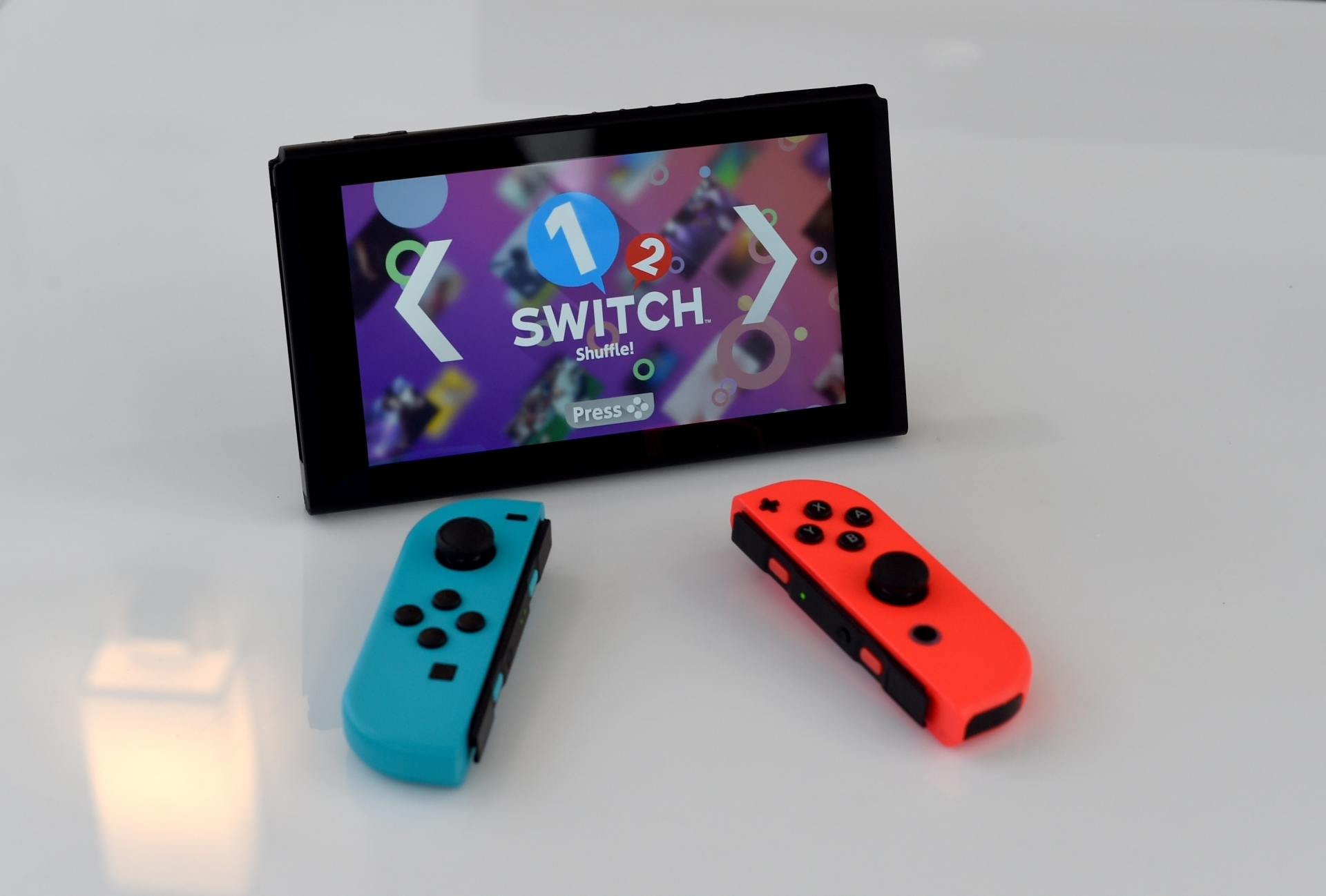 A Nintendo Switch on display in Madison Square Park in New York, March 2017. u2014 AFP Relaxnews