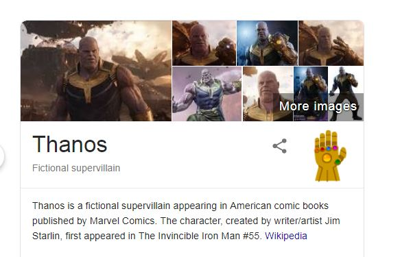 Thanos' and other Google search Easter eggs you can try