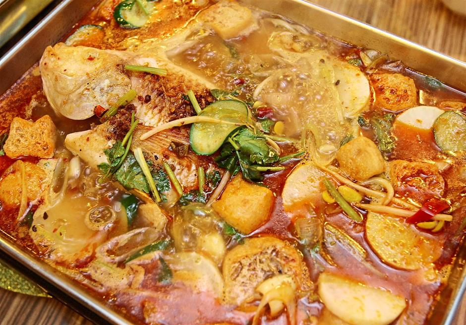 Appetising: For a fiery kick, go for the Fragrant Spicy Soup.