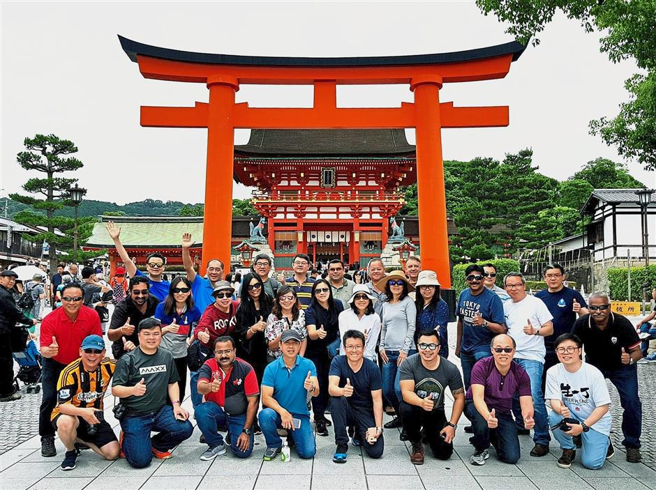 Top notch: PKTs management team at their latest retreat in Japan.