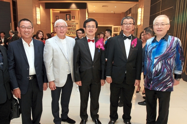 (From left) Federation of Malaysia Lim Association honorary presidents Lim Chin Hua and Datuk Lim Chai Beng, Hock Sing, Hock San and Wee.