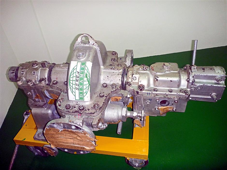 Complex machinery: A one stage steam turbine used for training the company's engineers so that they know how to carry out the overhauls and inspections in accordance to standard industrial practices.