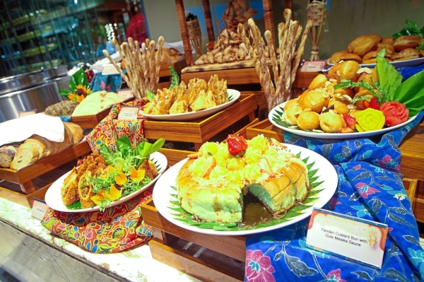 There is an array of desserts to choose from.