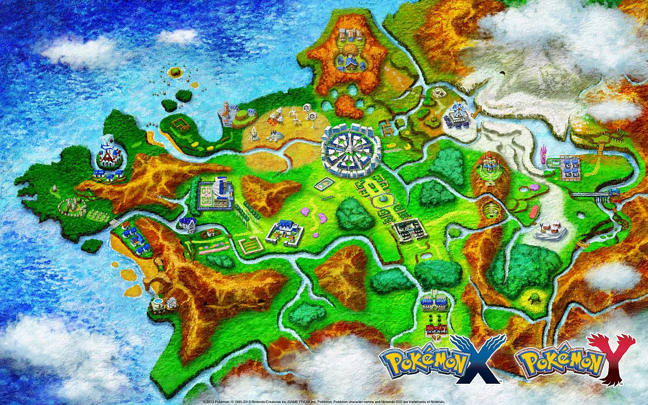 REAL WORLD BASED: The Kalos region is based on the actual geographical region of France.